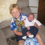 Proud big brother J3 and Jake all dudded up