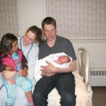 The Duffs with new daughter Alaina